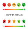 feedback concept set of emoji scales for web and vector image vector image