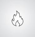 fire outline symbol dark on white background logo vector image vector image