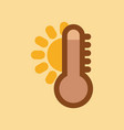 flat icon on stylish background thermometer hot vector image