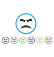furious smile rounded icon vector image vector image