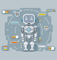 futuristic android robot electronic artificial vector image