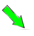 green downloads arrow on white vector image vector image