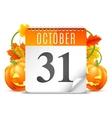 Halloween Calendar vector image vector image