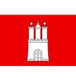 Hamburg Flag vector image vector image