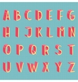 Hand drawn flat modern full alphabet vector image