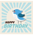 Happy Birthday design bird icon Colorfull vector image vector image