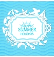Happy summer holidays background vector image vector image