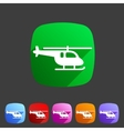 helicopter icon flat web sign symbol logo set vector image vector image