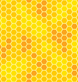 honeycomb with honey seamless pattern vector image vector image