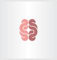 human gut logo icon symbol vector image