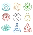 icons of yoga vector image