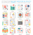 infographics mini concept medicine and health vector image vector image