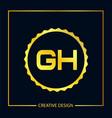 initial letter gh logo template design vector image