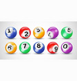 keno lottery balls numbers bingo lotto vector image
