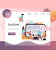 lecture website landing page design vector image vector image