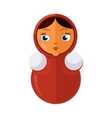 Matryoshka Russian traditional doll isolate on vector image