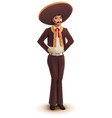 mexican man dancer in national traditional costume vector image vector image
