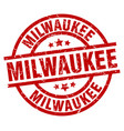 Milwaukee red round grunge stamp