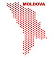 moldova map - mosaic of lovely hearts vector image vector image