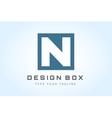N logo icon template monogram vector image vector image