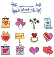 Object valentine days various collection vector image vector image