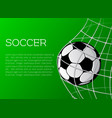 poster template for soccer championship vector image
