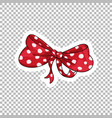 red bow hand drawn on transparent vector image vector image