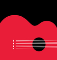 Red Guitar vector image vector image