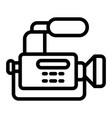reportage camera line icon camcorder vector image vector image