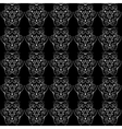 retro black and white seamless pattern vector image