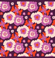retro bohemian daisy floral pattern hand vector image vector image