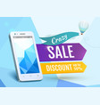 Sale Smartphone poster design vector image vector image