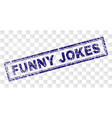 scratched funny jokes rectangle stamp vector image vector image