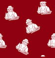 seamless pattern with a santa claus vector image vector image