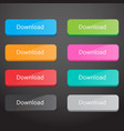 set of download buttons vector image vector image