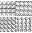 Set of monochrome geometrical patterns vector image vector image