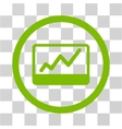 Stock Market Chart Flat Rounded Icon vector image