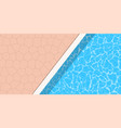 summer pool party banner with space for text vector image vector image