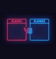 versus screen neon sign versus screen neon vector image vector image