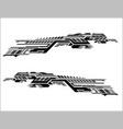 vinyls sticker set decals grey car truck mini bus vector image vector image