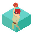 water polo icon isometric 3d style vector image vector image