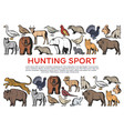 wild forest animals and birds hunting sport vector image vector image