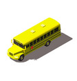 yellow school bus isometric vector image
