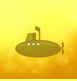 yellow submarine sails vector image