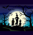halloween background with vector image