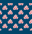 momo peach flower blossom on indigo blue vector image