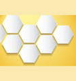 abstract yellow bee hive hexagon