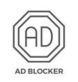AD Blocker icon vector image