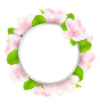 Apple Tree Flowers With Speech Bubble vector image vector image