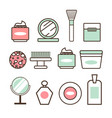beauty tools and means minimalistic vector image vector image